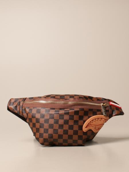 Sprayground belt bag in vegan leather with carved shark