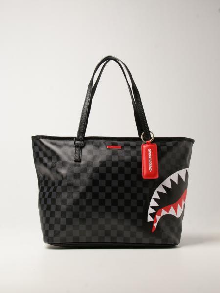 Sprayground bag in vegan leather with shark print
