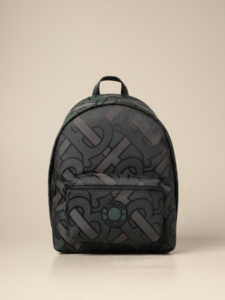 Burberry backpack in recycled polyester with jacquard monogram