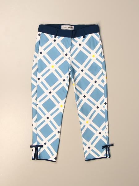 Simonetta trousers in geometric patterned cotton