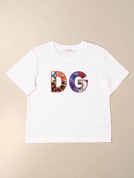 T-shirt Dolce & Gabbana con logo DG colorato