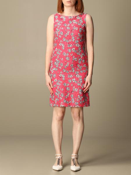 Idda: Sleeveless brocade sheath dress
