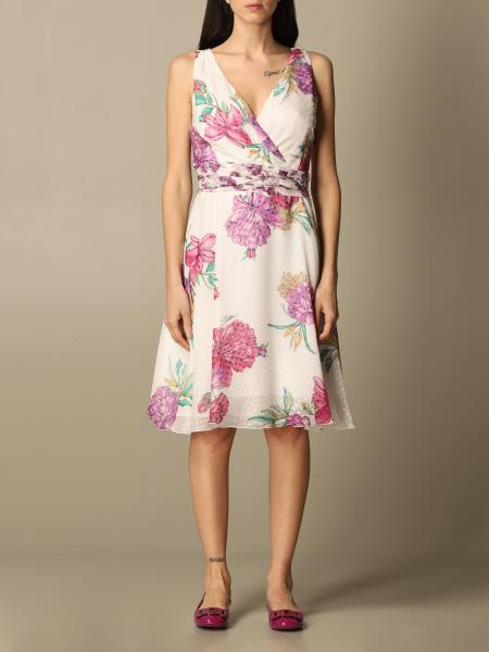 Idda: Sleeveless fil coupe 'silk flower print