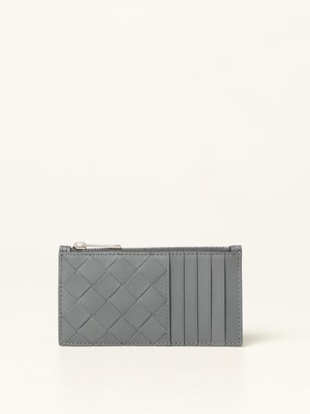 Bottega Veneta men: Bottega Veneta card holder in woven leather 1.5