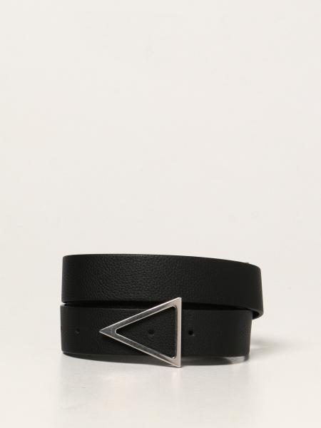 Bottega Veneta men: Bottega Veneta triangular leather belt