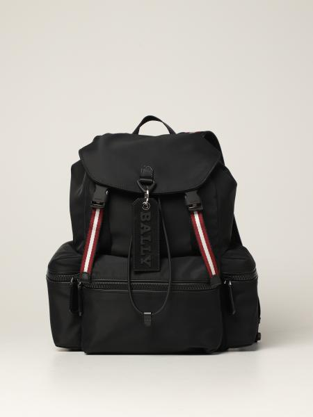 Crew Bally backpack in nylon with stripes