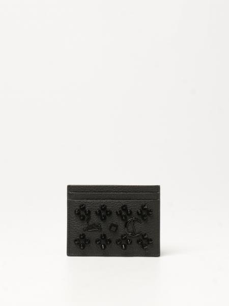 Porta carte di credito Kios Christian Louboutin con borchie