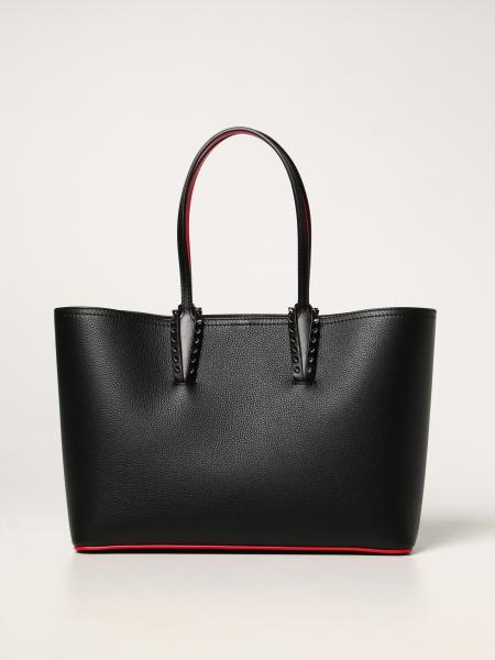 Christian Louboutin Cabata bag in leather with spikes