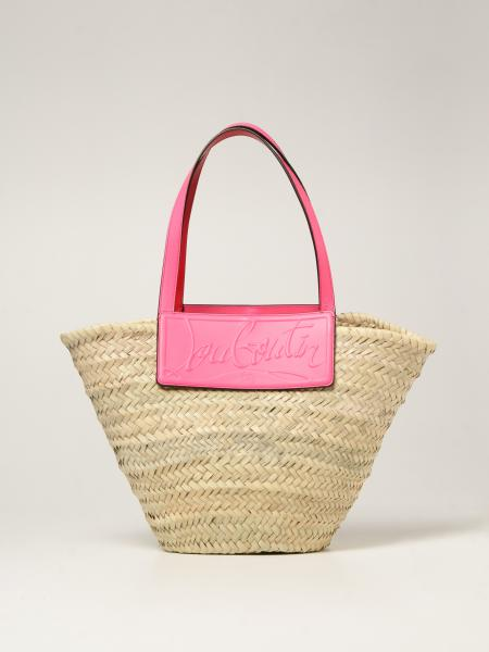 Christian Louboutin: Christian Louboutin Loubishore bag in woven straw