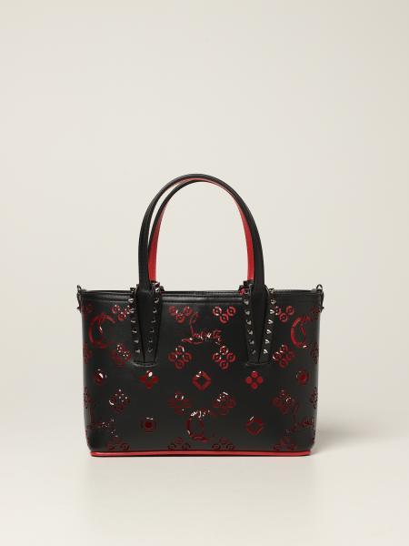 Christian Louboutin: Christian Louboutin mini Cabata bag in leather with spikes