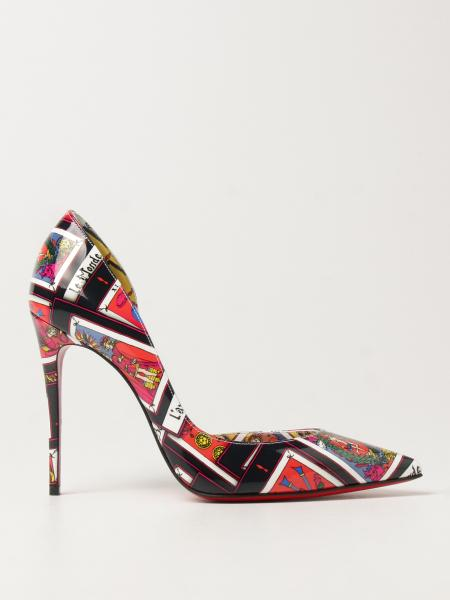 Décolleté Iriza Christian Louboutin in vernice stampata