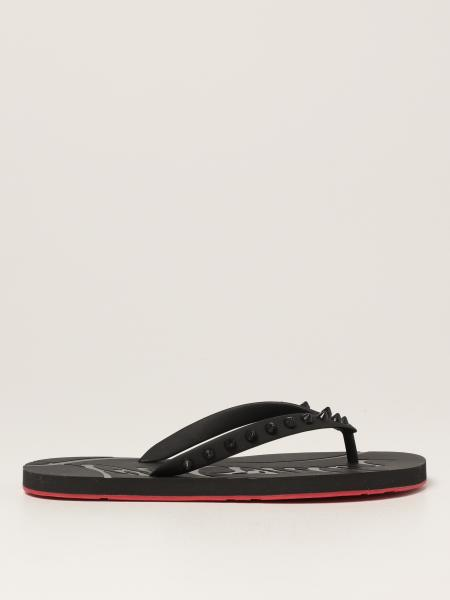 Christian Louboutin women: Loubi Flip Christian Louboutin thong sandals with studss