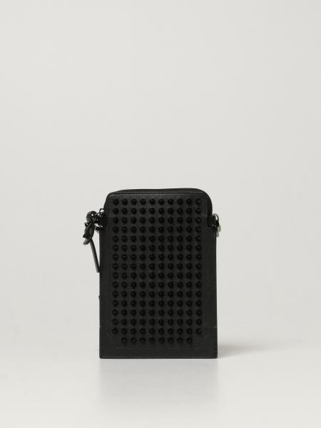 Christian Louboutin men: Loubilab Christian Louboutin crossbody bag in leather with studs