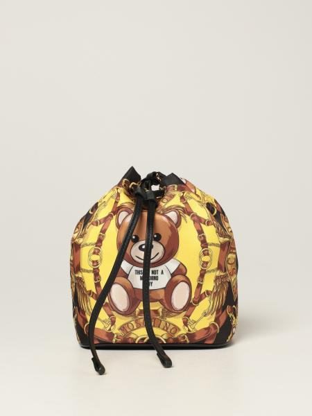 Moschino Couture nylon bag with foulard and Teddy print