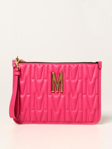 Moschino Couture clutch bag in quilted leather