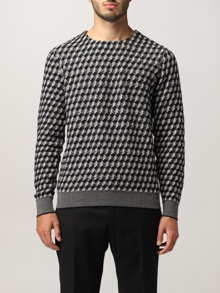 Maglia Giorgio Armani in lana vergine con motivo jacquard geometrico