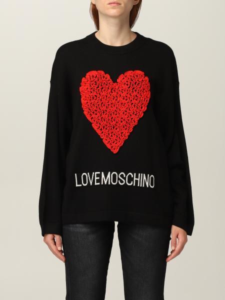 Love Moschino: Maglia Love Moschino in misto lana con cuore