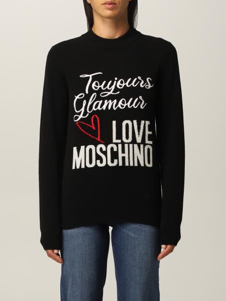 Love Moschino 女士: Love Moschino Logo 羊毛混纺毛衣