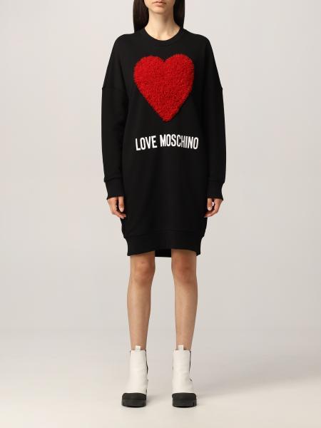 Love Moschino 女士: Love Moschino 卫衣连衣裙,饰有花心图案