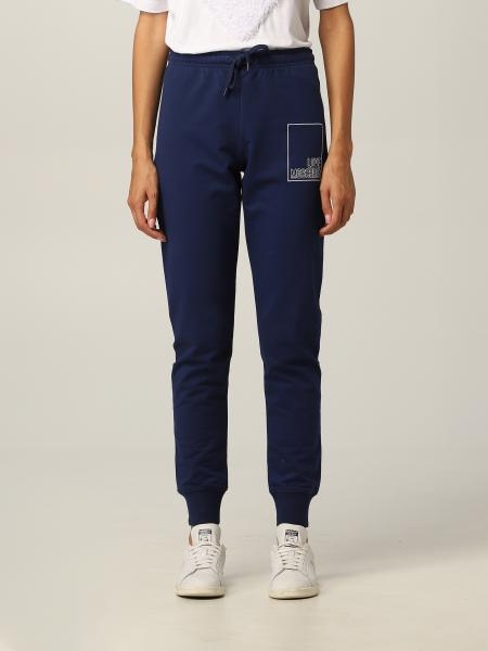 Love Moschino women: Love Moschino jogging trousers with stitched logo