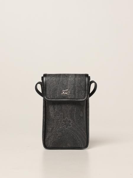 Etro: Pegaso Etro mobile phone holder in jacquard paisley fabric