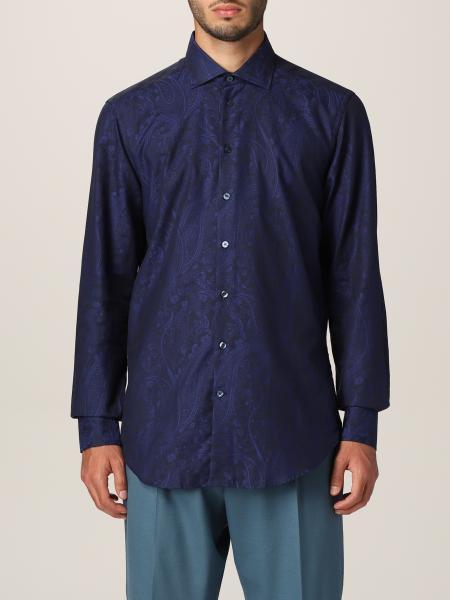 Etro men: Etro shirt in paisley cotton
