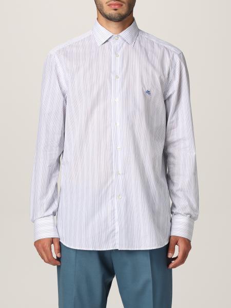 Etro men: Etro striped cotton shirt
