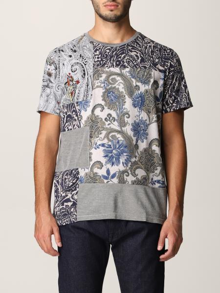 Etro men: Etro patchwork T-shirt