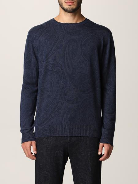 Etro men: Etro sweater in virgin wool with paisley pattern