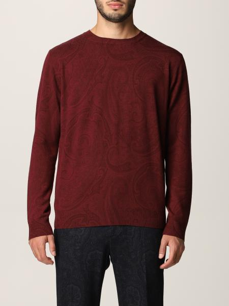 Etro men: Etro jumper in virgin wool with paisley pattern