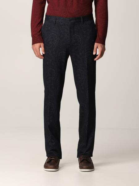 Etro men: Etro pants with paisley print
