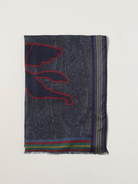 Etro: Etro cashmere and modal scarf with Pegaso