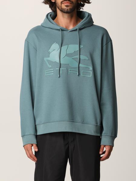 Etro men: Etro cotton sweatshirt with Pegasus