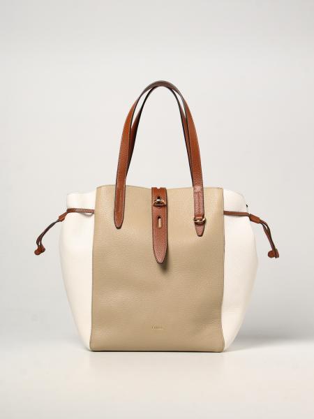 Furla women: Net Furla bag in tricolor hammered leather