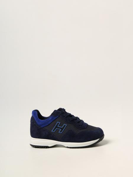 Interactive sneakers H Flock Hogan Baby in mesh and suede