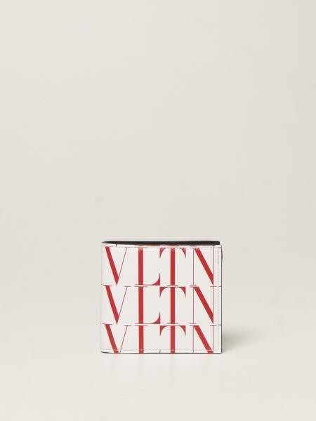 Portafoglio Valentino Garavani in pelle con logo VLTN