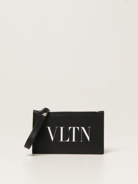 Valentino Garavani men: Valentino Garavani credit card holder with VLTN logo
