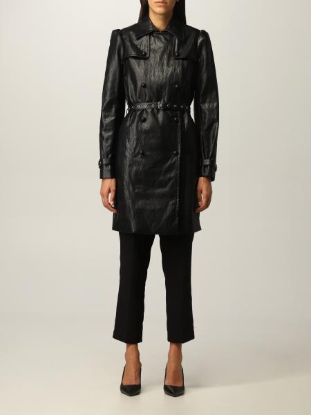 Michael Kors: Michael Michael Kors trench coat in synthetic leather