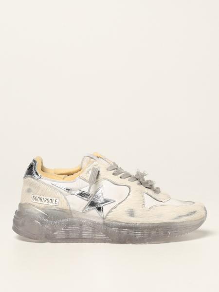 Sneakers Running Sole Golden Goose in cavallino e nylon