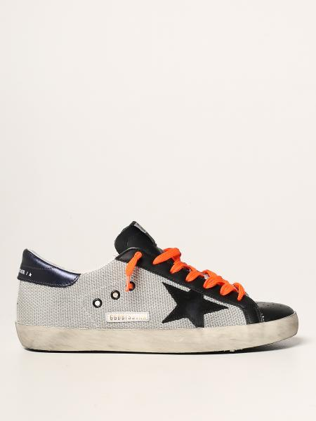 Golden Goose men: Super-Star classic Golden Goose trainers in leather and mesh
