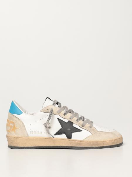 Golden Goose men: Ball Star Golden Goose trainers in leather and suede