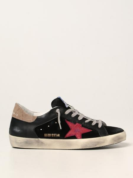Golden Goose men: Super-Star Golden Goose trainers in leather and suede
