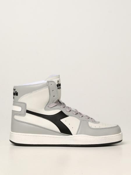 Diadora Heritage men: Mi Basket Used Diadora Heritage sneakers in leather