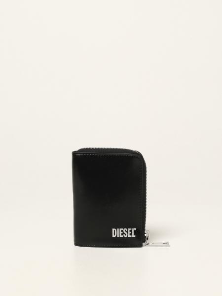 Portafoglio Diesel in pelle spazzolata