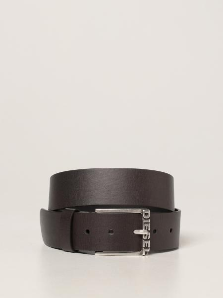 Diesel men: Diesel belt with logo buckle