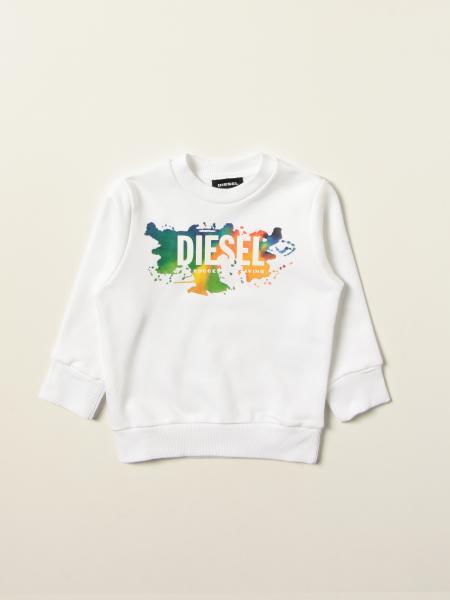 Diesel 棉质卫衣,带有Logo和彩色飞溅的Logo