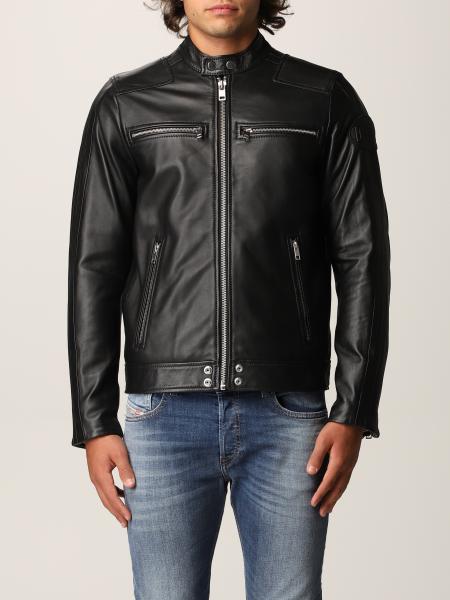 Diesel men: Biker style Diesel leather jacket