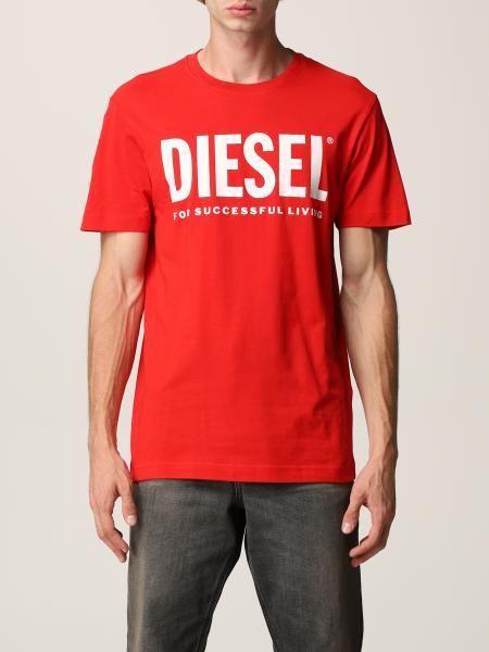 T-shirt Diesel in cotone con logo
