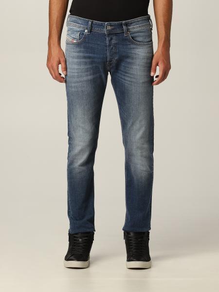 Diesel men: Sleenker Diesel jeans in used skinny stretch denim