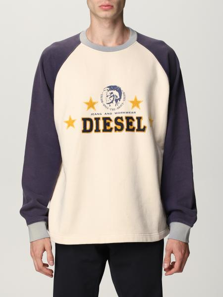 Diesel 刺绣Logo棉质圆领卫衣